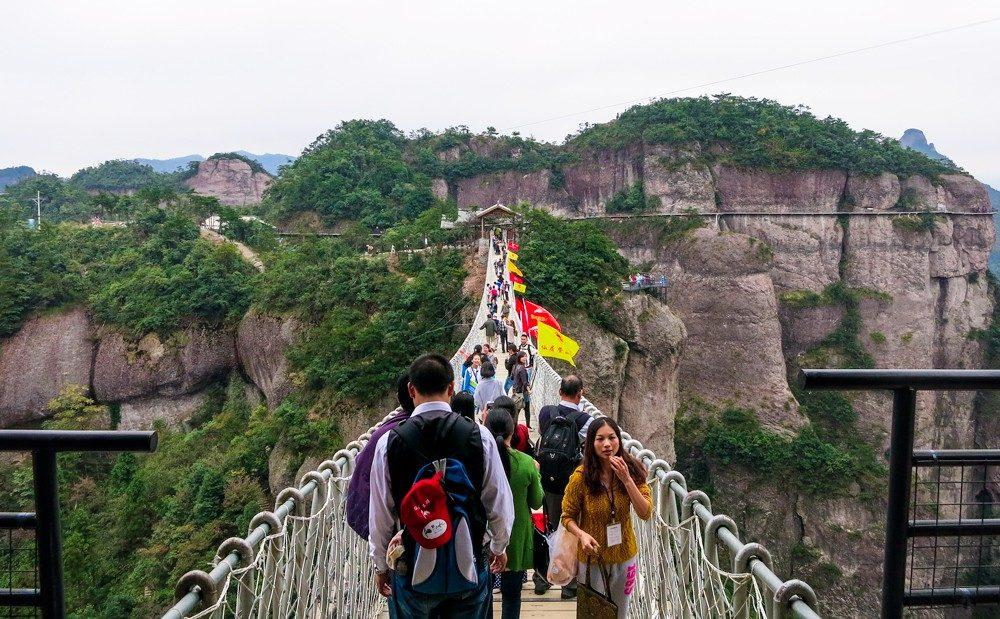 Suspension bridge at Shenxianju