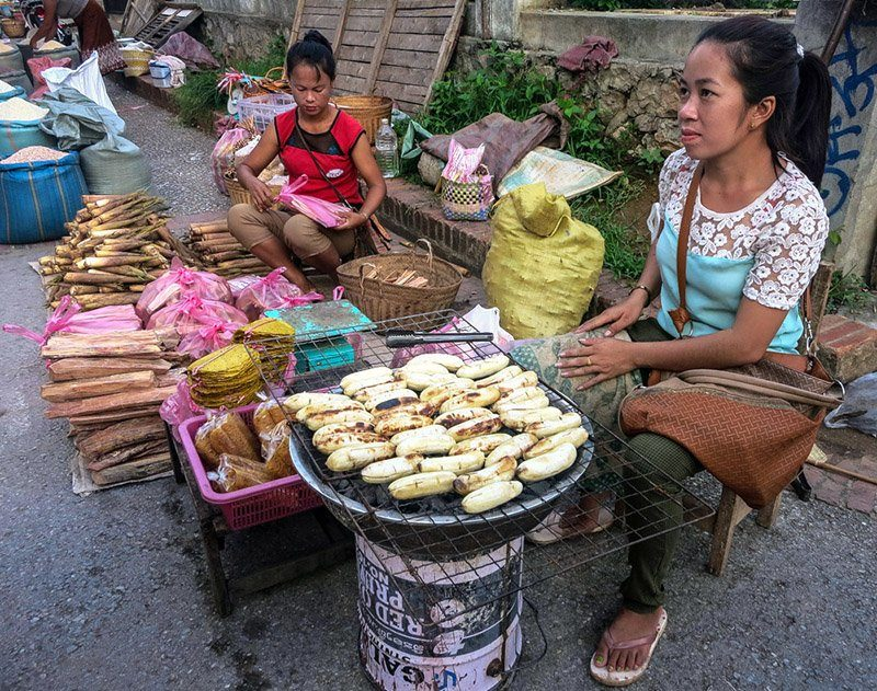 Dried goods at the Luang Prabang morning market