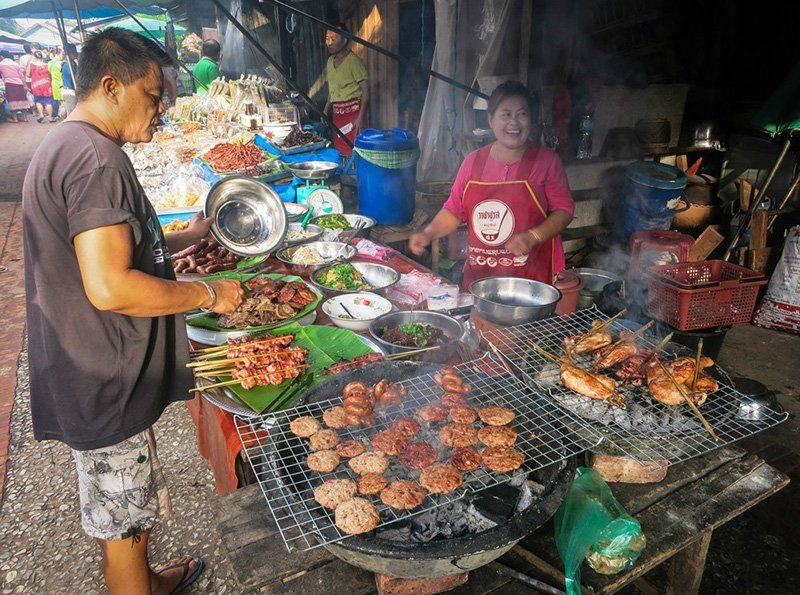 Delicious local food, Luang Prabang, Laos