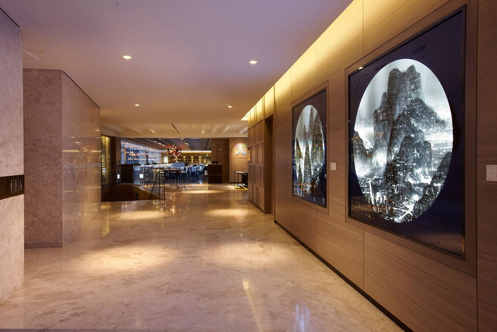 """Moonlight"" by Yang Yongliang, at the hotel's lobby. Photo: Humble House Taipei"
