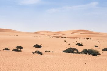 The Arabian desert in Dubai