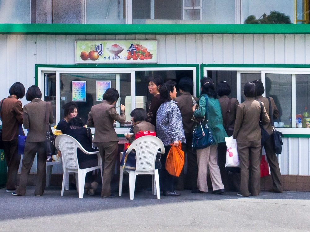A Bingsu (shaved ice dessert) shop in Pyongyang