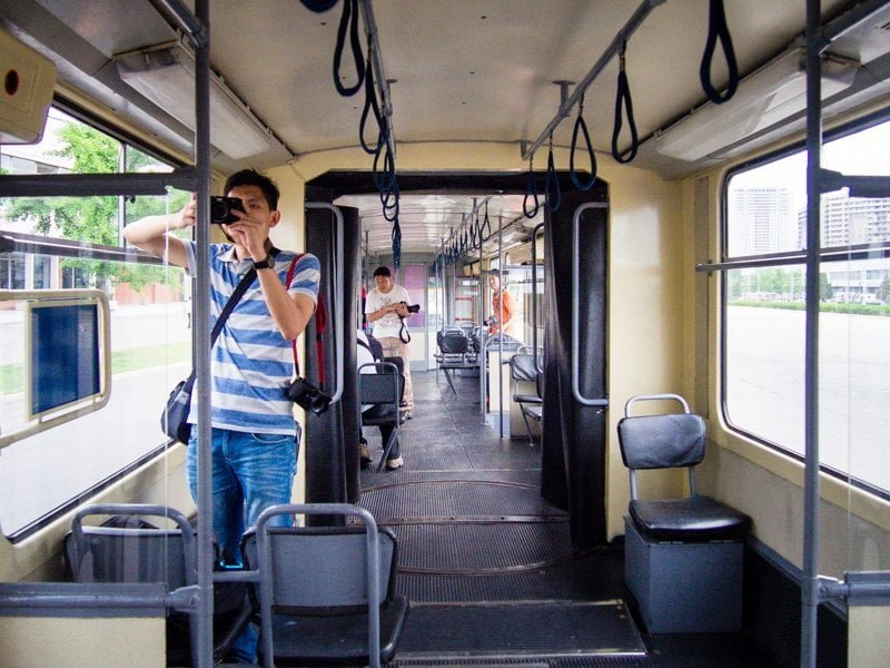 Inside Pyongyang Tram 1001