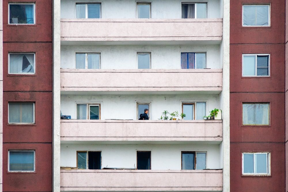 High-rise living in Pyongyang