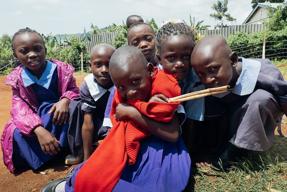 Children at Kipepeo Community School where I was volunteering in Kenya