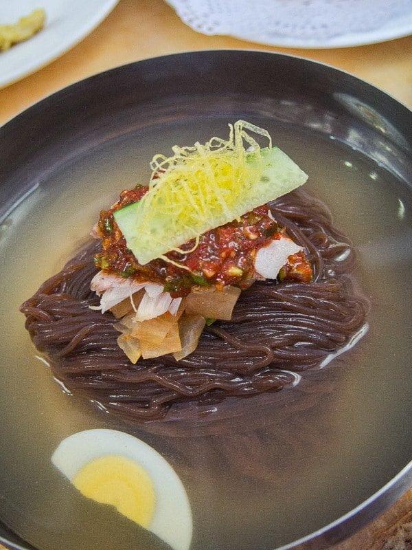 Pyongyang Raengmyon (cold noodles)