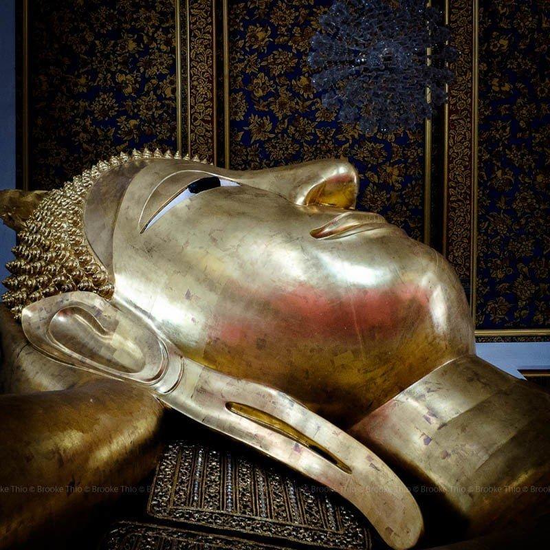 Reclining Budhha, Wat Ratcha Orot. Thonburi, Bangkok