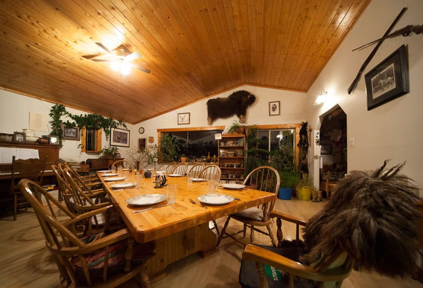 Dining room at Lone Pine Ranch B&B. Photo: James Tan