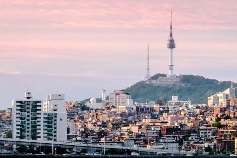 Namsan, Seoul, at sunset