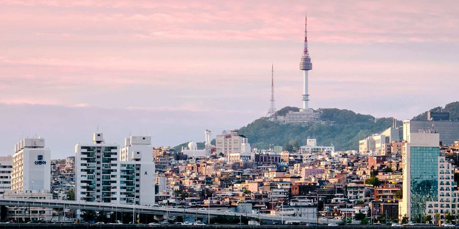 Namsan, Seoul, at sunset