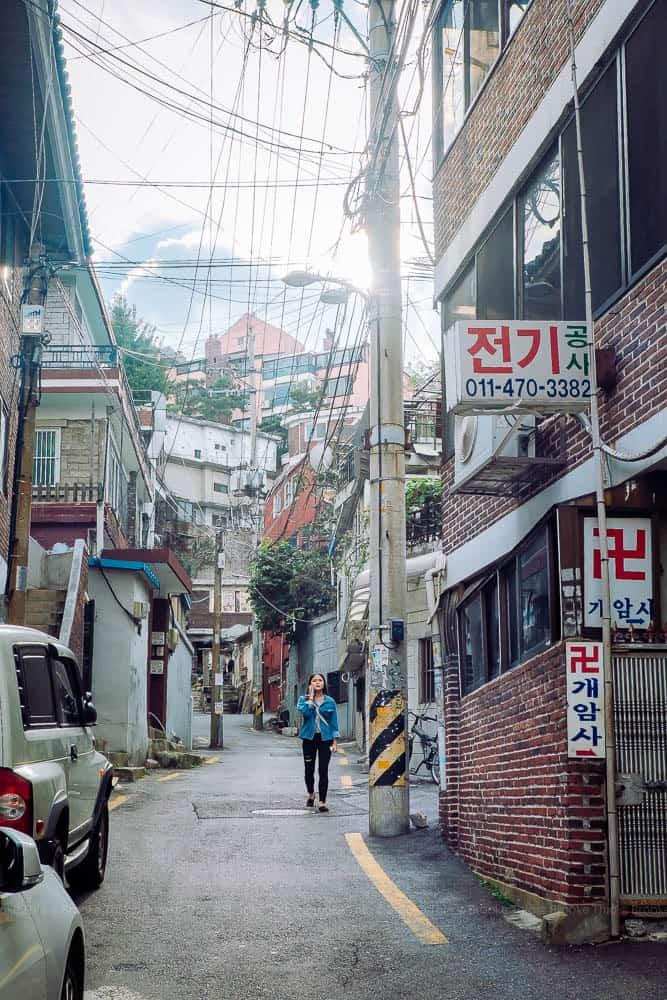 Residential street in Jung-gu, Seoul
