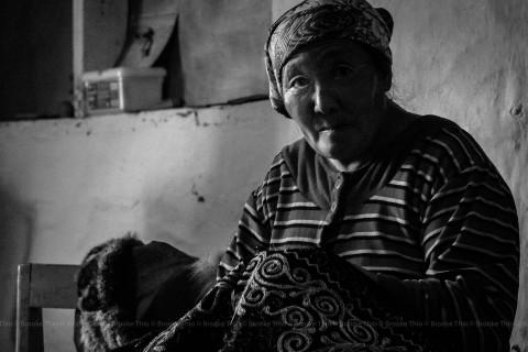 Kazakh Neighbor Embroidering