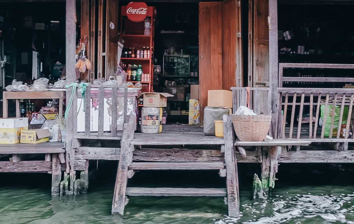 Provision Shop On the Water. Thonburi, Bangkok