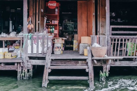 Provision Shop On the Water. Thonburi, Bangkok