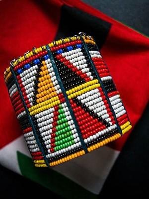 Maasai beaded bangle. Image: AlamaCreative/Pixabay