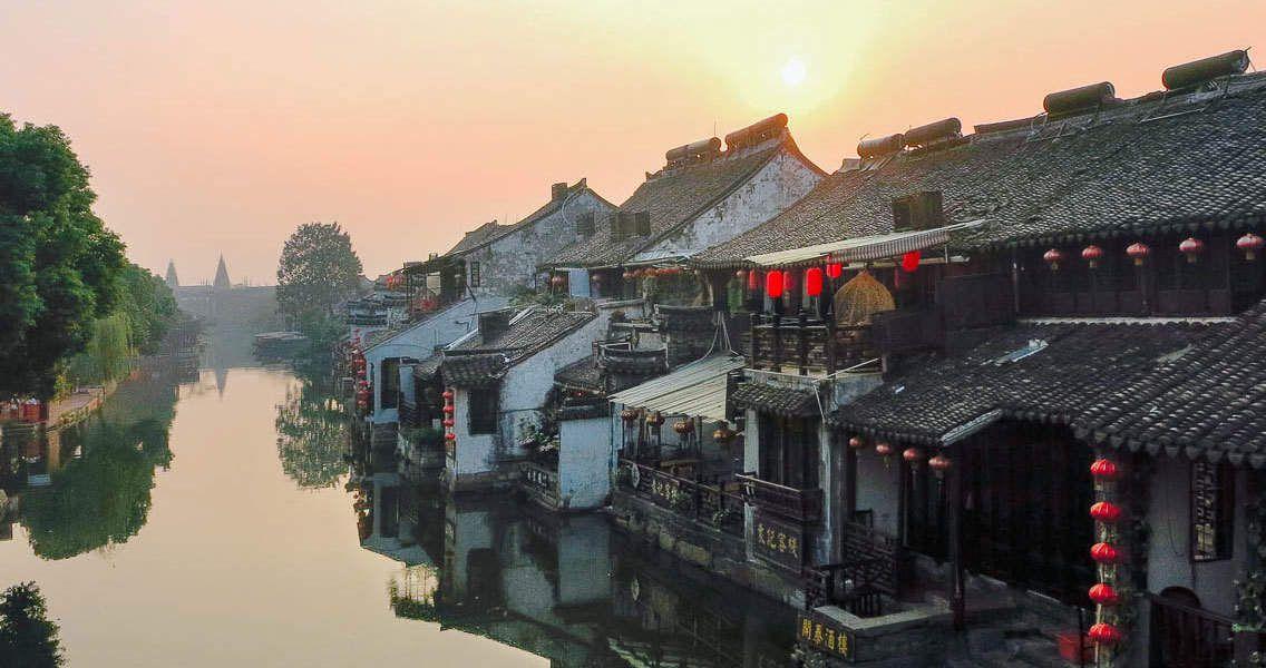 Sunrise in Xitang Water Town, Zhejiang, China