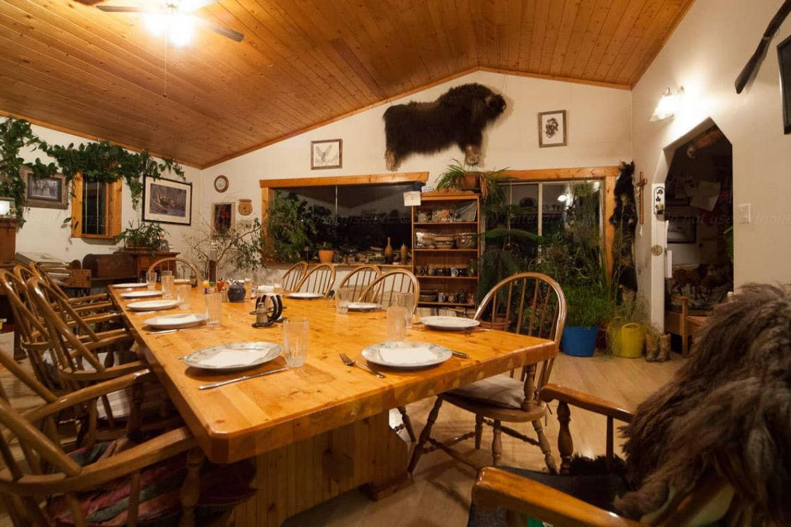Dining room, Lone Pine Ranch B&B. Photo: James Tan