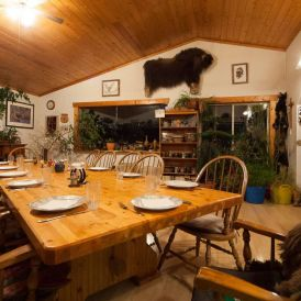 Dining room, Lone Pine Ranch B&B. Photo: James Tan