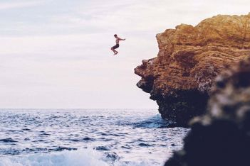 Cliff jumping. Photo by Austin Neill / Unsplash