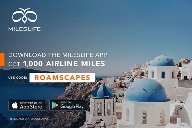 Mileslife: Get bonus 1000 airline miles with code ROAMSCAPES