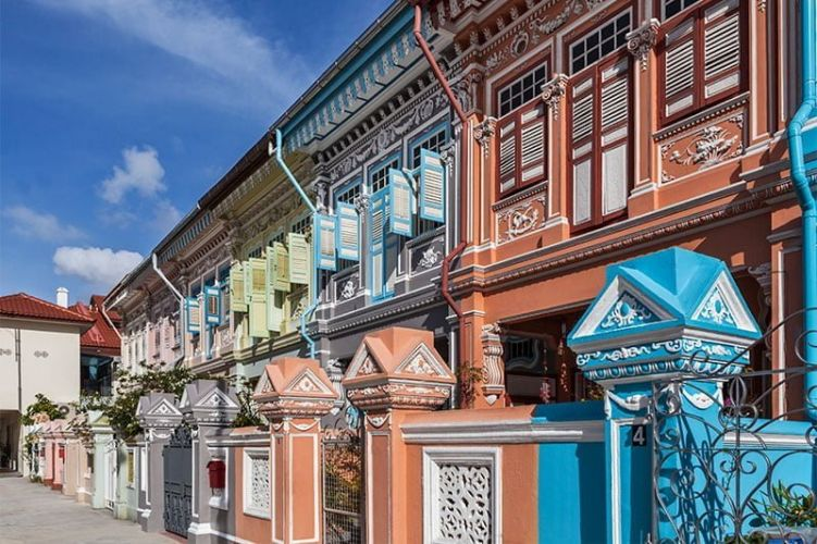 Colorful Peranakan shophouses in Joo Chiat, Singapore. Photo: Singapore Tourism Board