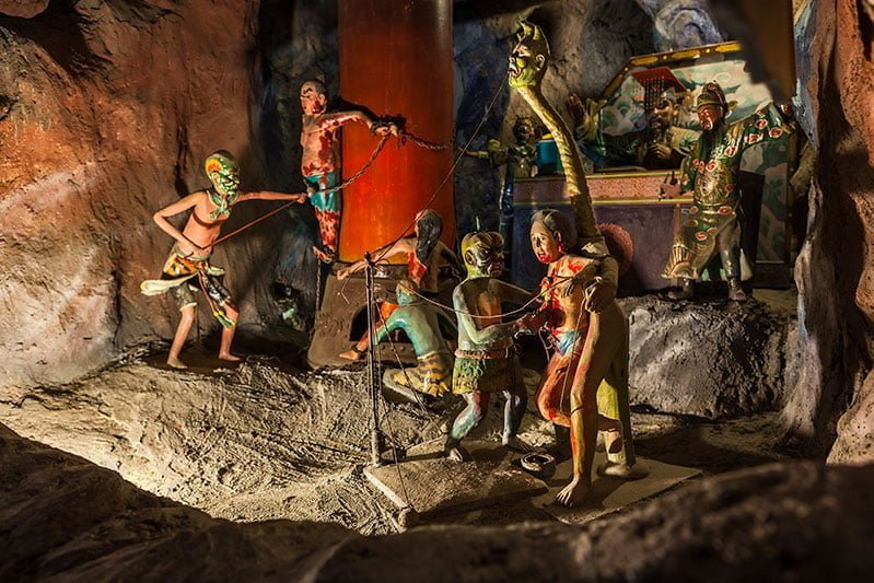 Gory depictions of Hell at Haw Par Villa, Singapore. Photo: © Singapore Tourism Board