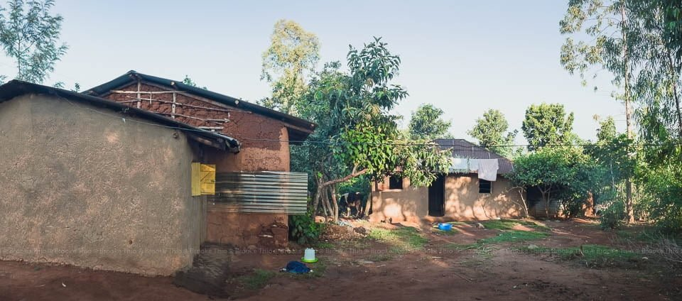 My host family's home, a mud house in Kenya