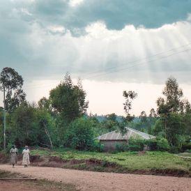 Walking home, Ebusiralo village