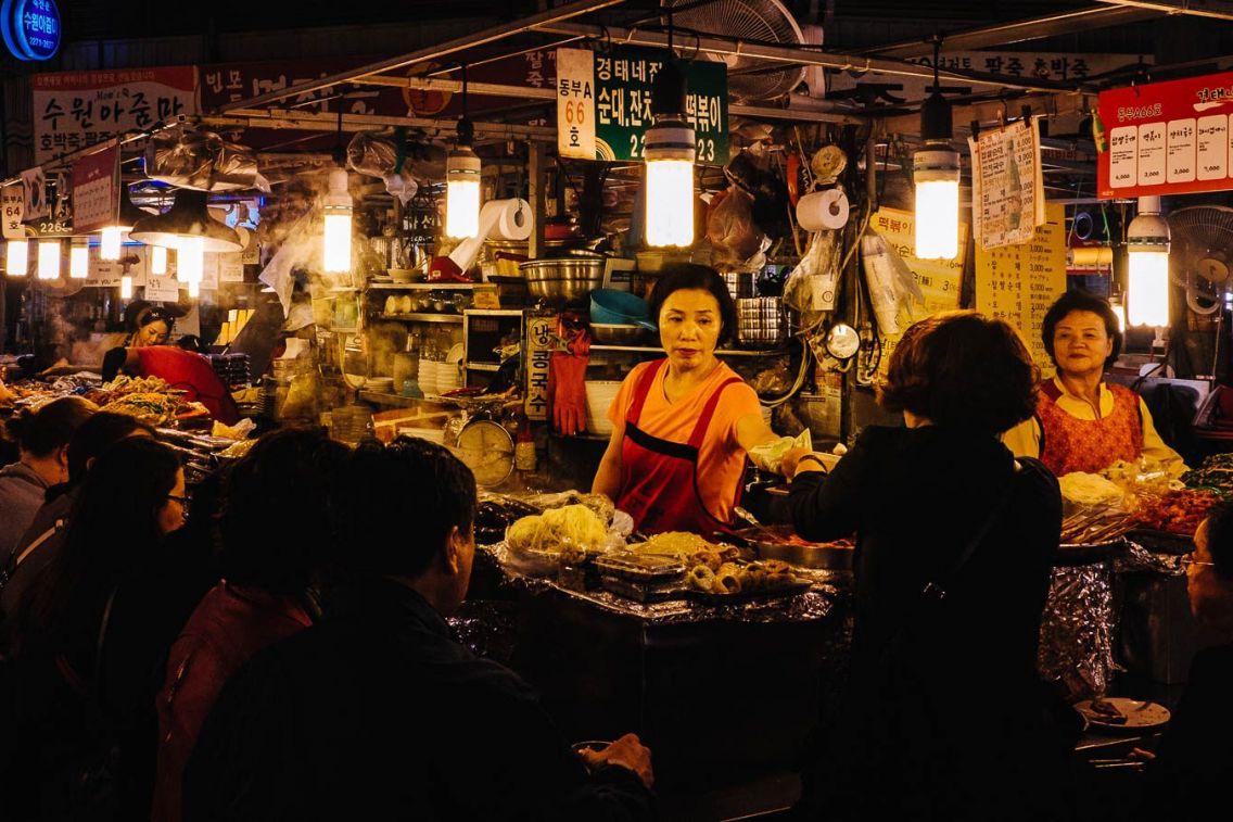 Gwangjang Market vendor. Seoul