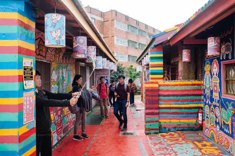 Inside Rainbow Village Taichung