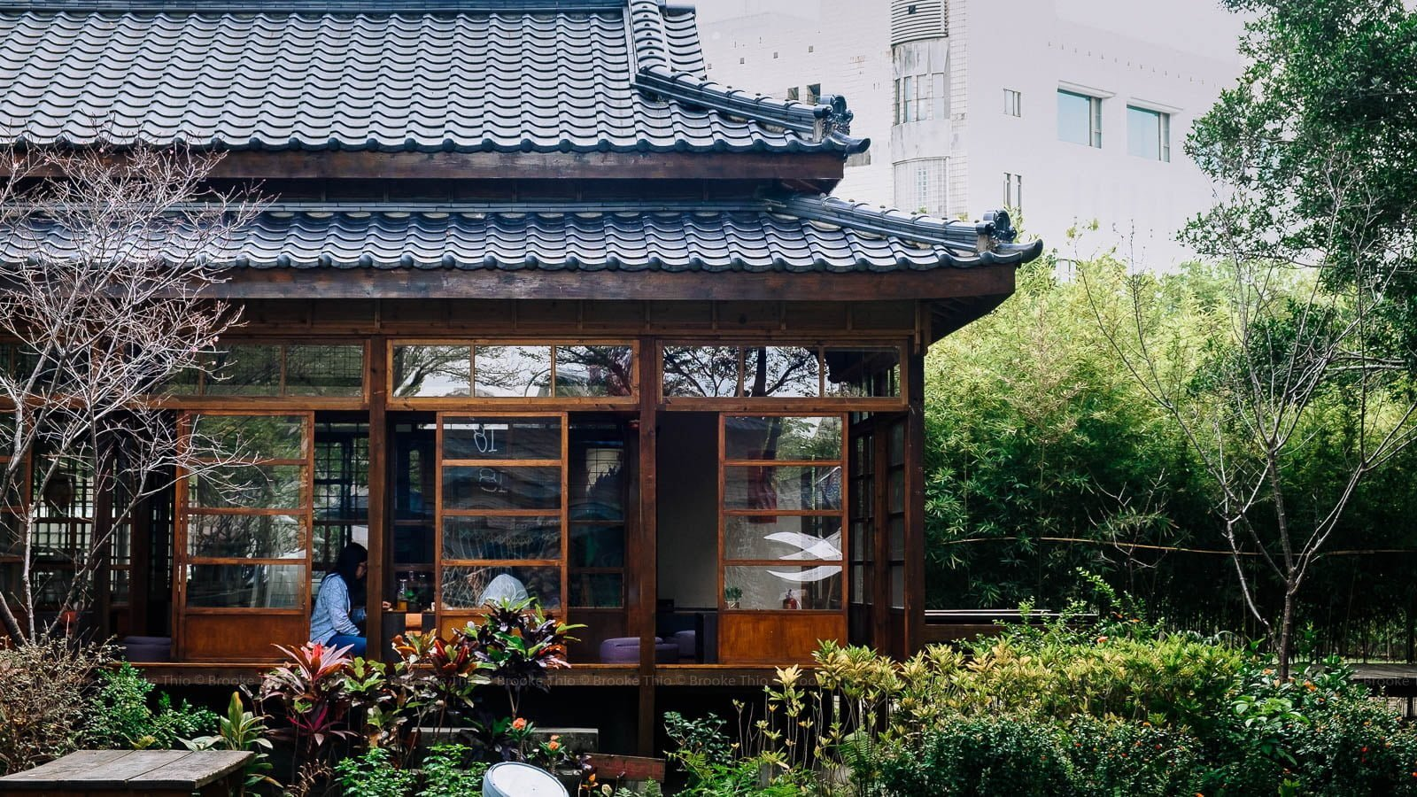 Porch and garden at Natural Way Six Arts Cultural Center, Taichung