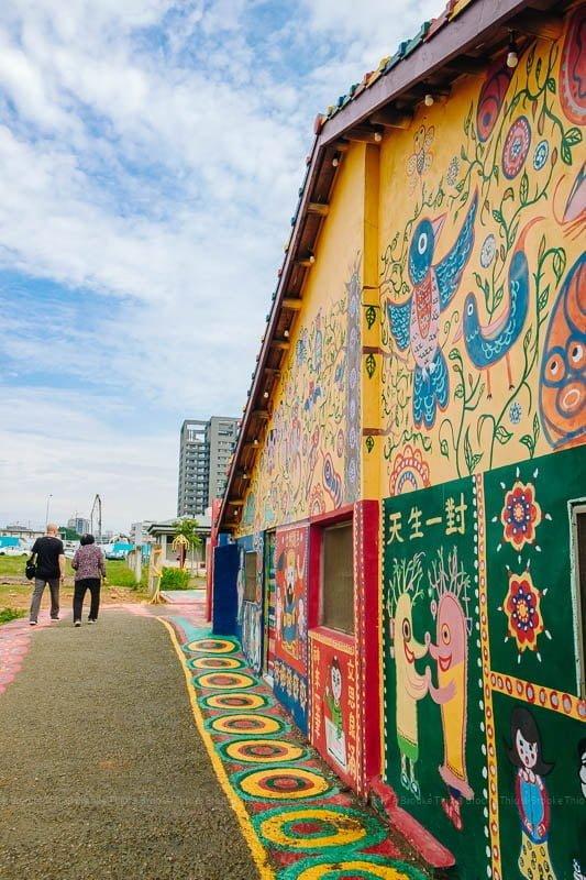 Side wall at Rainbow Village Taichung