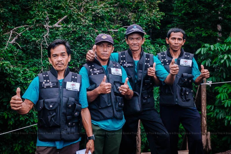 Awesome ranger guides at Bukit Peramun Hill, Belitung