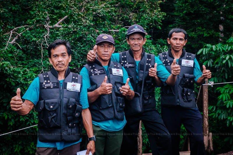 Awesome ranger guides at Bukit Peramun Hill, Belitung