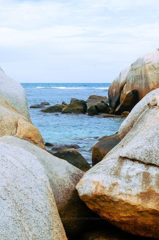 Boulders and water at Pulau Lengkuas