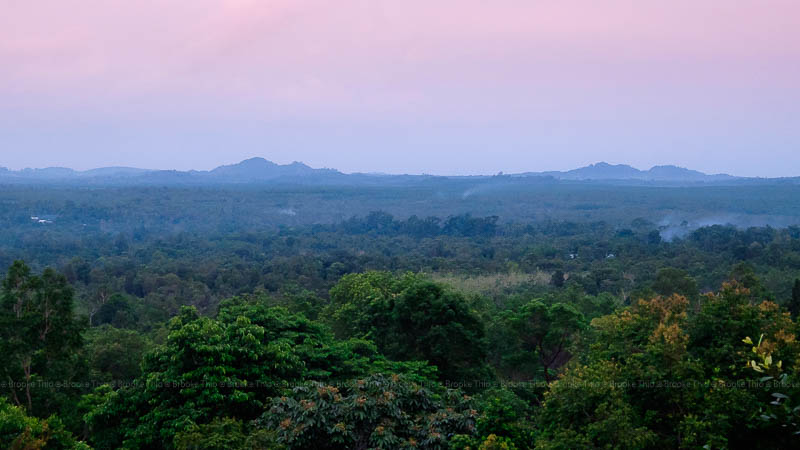 Dusk from the top of Peramun Hill, Belitung
