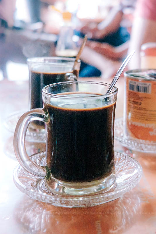 Tiny cup of Belitung coffee