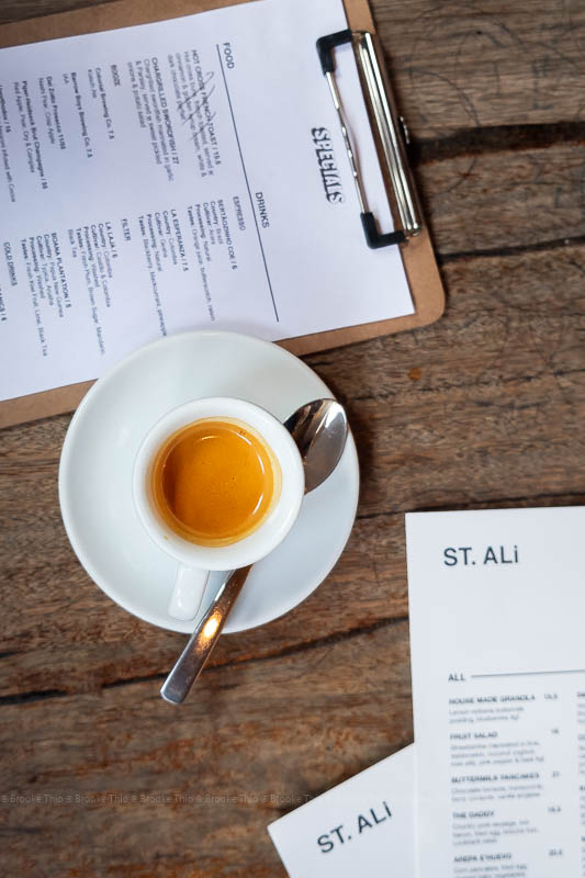 Burundi espresso shot at St Ali, Melbourne