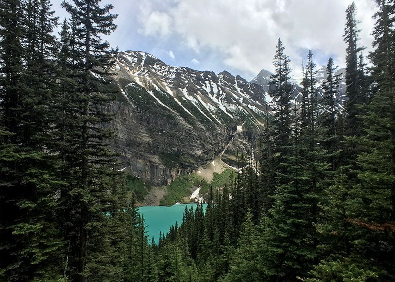 Lake Louise from the switchback at Lake Agnes trail. Photo: James Tan