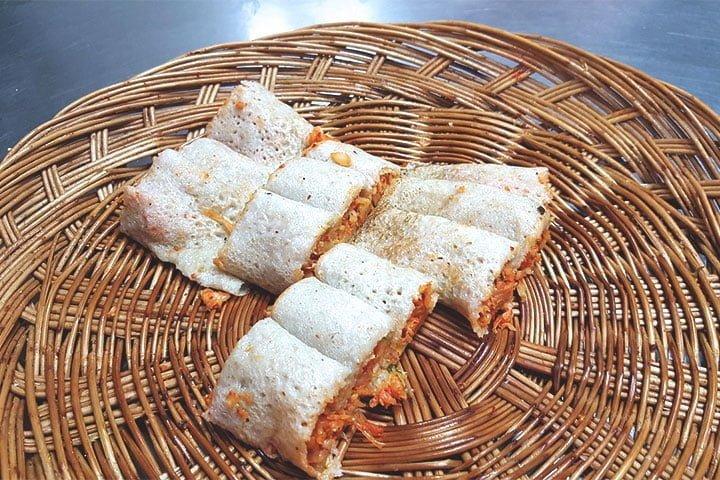 Buckwheat crepe, memil-jeonbyeong (메밀전병). Photo: Pixabay