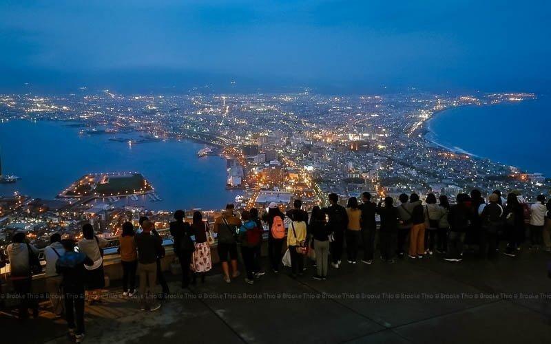 Hakodate night view from Mount Hakodate, Hokkaido