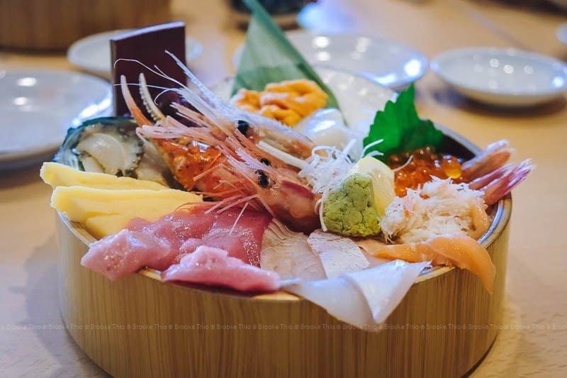 Kaisendon seafood rice bowl in Otaru, Hokkaido