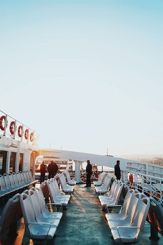 Top deck on an Instanbul ferry. Photo: Yusuf Evli/Unsplash