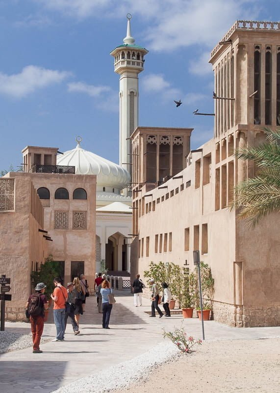 Al Fahidi Historial District (Al Bastakiya) in Old Dubai
