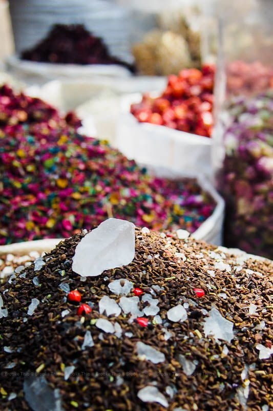 Colorful mixed spices, Dubai Spice Souk