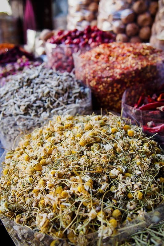 Herbs and spices at Dubai Spice Souk