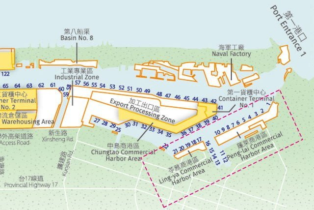 Kaohsiung Harbor redeveloped area. Source: Taiwan International Ports Corporation