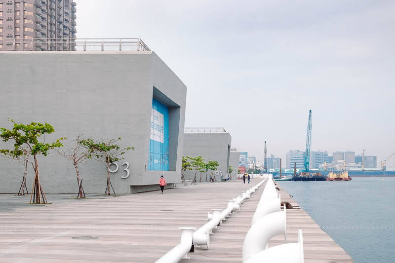 Open waterfront at Kaohsiung Harbor Glory Pier