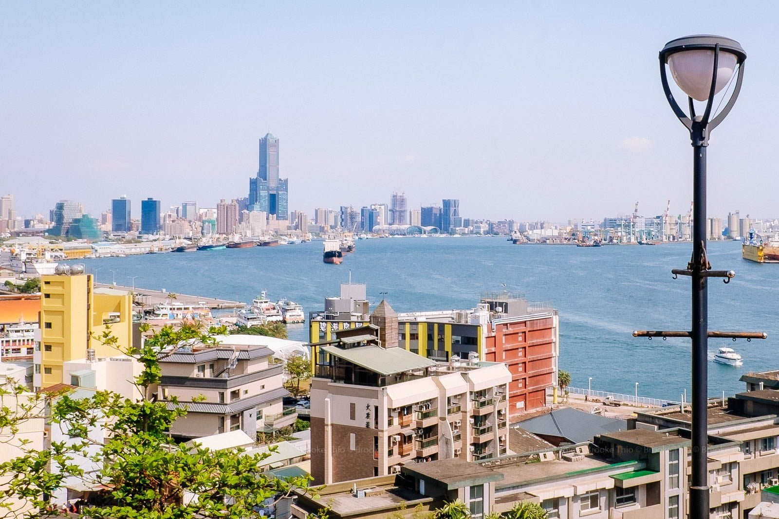 View of Kaohsiung Harbor from the British Consulate at Takow