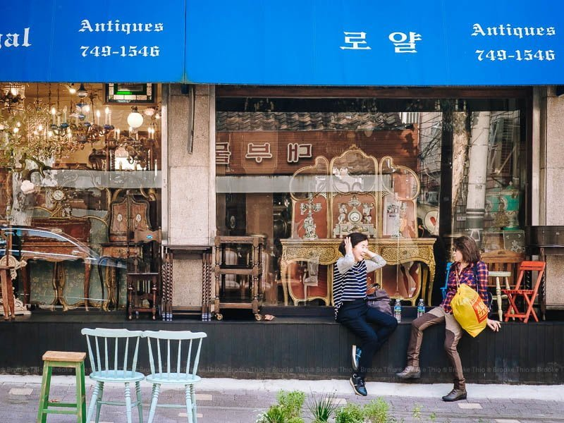 Antique store in Itaewon, Seoul